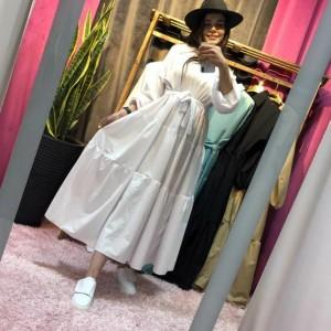 مانتو زنانه داکرون لعبا مدل مانتو پیراهنی-تصویر 4