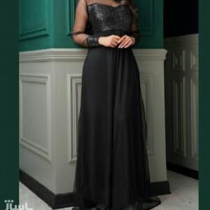 پیراهن شب زنانه کرپ مدل ماکسی مجلسی لاله-تصویر 2