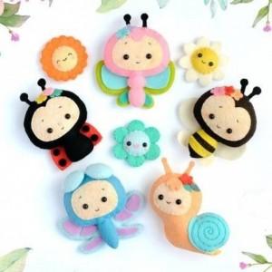 مجموعه عروسک حشرات نمدی