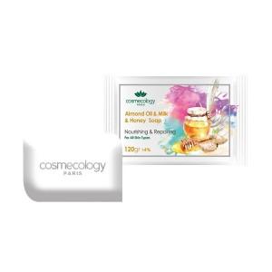 صابون مغذی و ترمیم کننده حاوی روغن بادام و شیر و عسل مناسب انواع پوست-تصویر 2