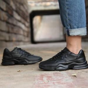 کفش کتانی نایک چرم دخترونه-تصویر 3