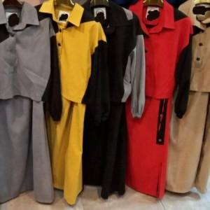 مانتو زنانه کتان مدل دوتیکه کت و پیراهن-تصویر 5