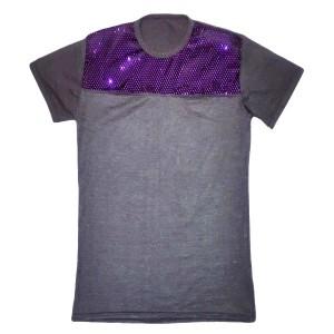 تی شرت مردانه یقه گرد براق