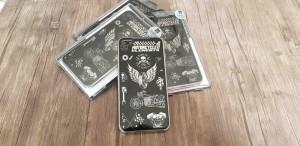 قاب پشت گلس طرح دار مدل Golden WK iphone 7plus/8plus