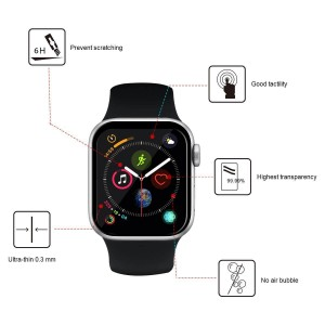 محافظ صفحه نمایش شیشه ای اپل واچ UNIPHA 4D Glass Apple Watch 44mm-تصویر 3