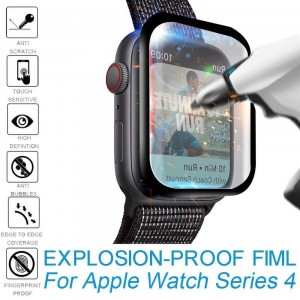 محافظ صفحه نمایش شیشه ای اپل واچ UNIPHA 4D Glass Apple Watch 44mm-تصویر 4
