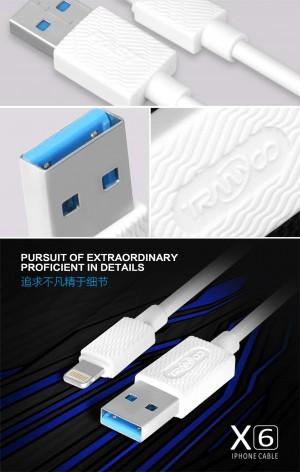 کابل شارژر ایفون TRANYOO Cable LIGHTNING X6
