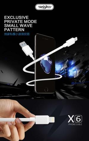 کابل شارژر ایفون TRANYOO Cable LIGHTNING X6-تصویر 2