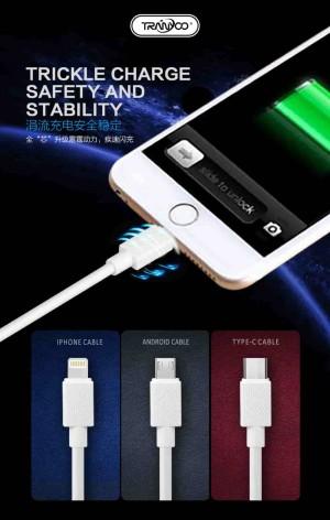 کابل شارژر ایفون TRANYOO Cable LIGHTNING X6-تصویر 3