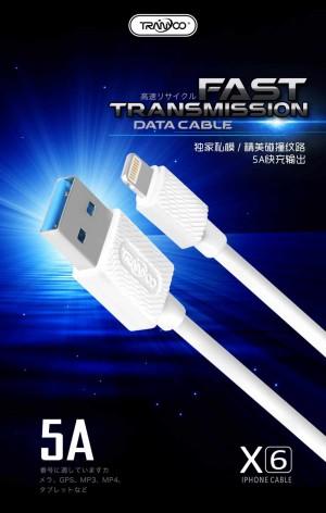 کابل شارژر ایفون TRANYOO Cable LIGHTNING X6-تصویر 4