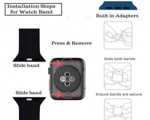 بند سیلیکونی اپل واچ  Apple Watch Sport Band 42mm-تصویر 2