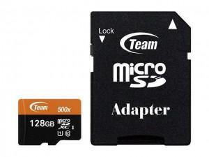 مموری کارت 128GB microSDXC TEAMGROUP کلاس 10 استاندارد UHS-I U1 سرعت 500X