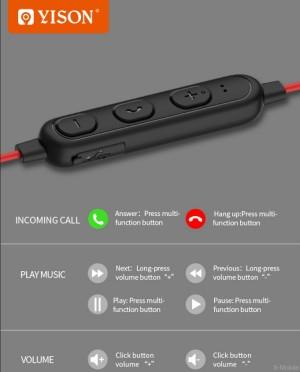 هندزفری بلوتوث وایسون Yison E14 Wireless Magnetic Earphone-تصویر 5