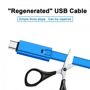 کابل شارژر برشی اندرویدی REPAIRABLE CHARGING CABLE-تصویر 3