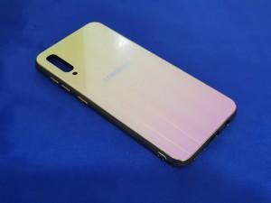 کاور پشت گلس رنگین کمانی Glass case samsung A70-تصویر 5