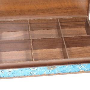 جعبه آجیل و خشکبار جعبه پذیرایی جعبه چوبی مدل ترمه  کد LB017-تصویر 2