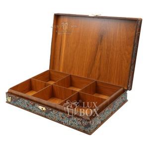 جعبه آجیل و خشکبار جعبه دمنوش پذیرایی جعبه چوبی مدل ترمه کد LB017
