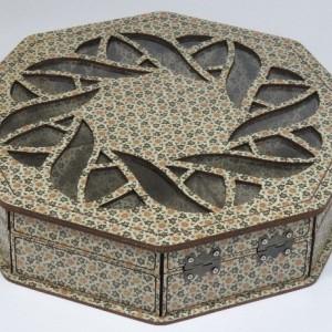 جعبه آجیل و خشکبار جعبه پذیرایی جعبه چوبی چند ضلعی مدل خاتم کد LB021-تصویر 3