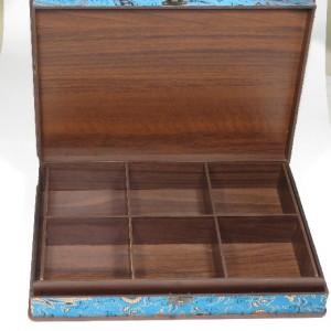 جعبه آجیل و خشکبار جعبه پذیرایی جعبه چوبی مدل ترمه  کد LB017-تصویر 4