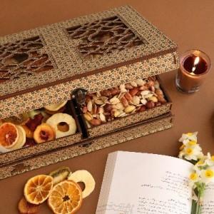 جعبه آجیل جعبه خشکبار جعبه پذیرایی جعبه چوبی کد LB027