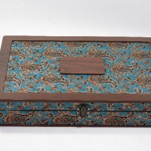 جعبه آجیل و خشکبار جعبه پذیرایی جعبه چوبی مدل ترمه  کد LB017