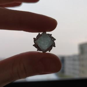 انگشتر نقره زنانه با نگین آکوامارین-تصویر 3
