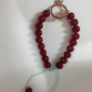 دستبند با پلاک استیل رنگ ثابت یلدا-تصویر 2