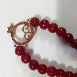 دستبند با پلاک استیل رنگ ثابت یلدا-تصویر 3
