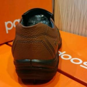 کفش چرم مصنوعی قهوه ای بدون بند مردانه آقای چرم-تصویر 3