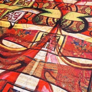 روسری ابریشم فاستونی کد89-تصویر 3