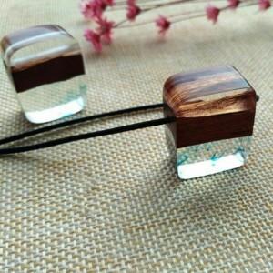 گردنبند چوب و رزین WN59-تصویر 2