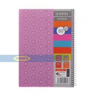 دفتر 80 برگ طرح دار شفیعی کد PP81-pink