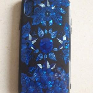 قاب Iphone x طرح گل آبی