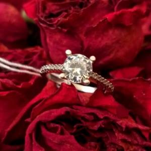 انگشتر نقره جواهری
