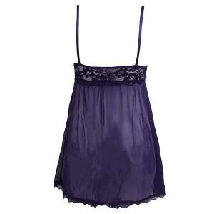 لباس خواب توری بندی زنانه بسیارشیک سرمه ای-تصویر 3