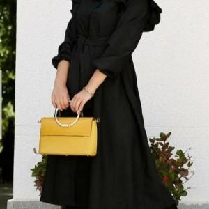 مانتو زنانه پوپلین مدل عروسکی بلند-تصویر 2