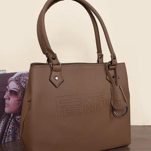 کیف رودوشی زنانه مدل Fendi رنگ نسکافه ای