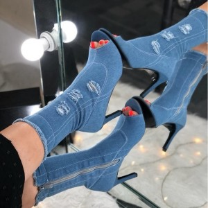 کفش پاشنه 7 سانتی جلوباز-تصویر 3