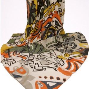 روسری نخی ریگازو طرحدار