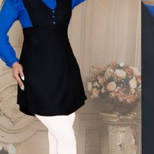 مانتو زنانه کرپ لعبا مدل تونیک مانتو آستین-تصویر 4