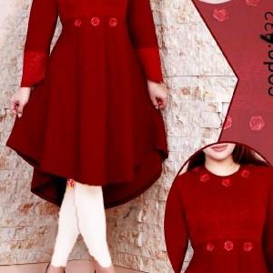 مانتو زنانه کرپ لعبا مدل حراج پیراهن عروسکی-تصویر 4