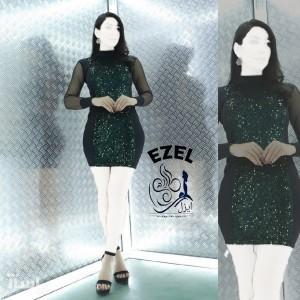 پیراهن زنانه مخمل مدل تونیک مجلسی ایزل-تصویر 3