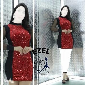 پیراهن زنانه مخمل مدل تونیک مجلسی ایزل-تصویر 5