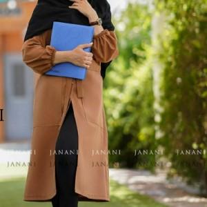 مانتو زنانه کرپ مدل دانشجویی و اداری-تصویر 5