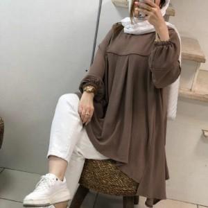 مانتو زنانه نخی مدل جلوبسته-تصویر 2