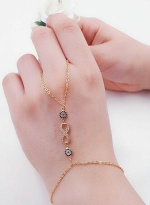 دستبند(تمیمه)طرح طلا-تصویر 2