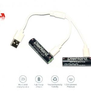 باتری قلمی قابل شارژ دای هارد مدل NI-MH.2BM.2300 بسته 2 عددی-تصویر 2