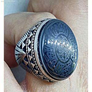 انگشتر فاخر حدید صینی اسما الحسنی-تصویر 2