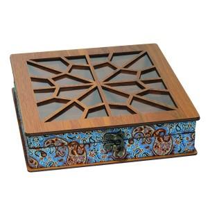جعبه آجیل جعبه پذیرایی جعبه دمنوش جعبه خشکبار لوکس باکس کد LB032-تصویر 2