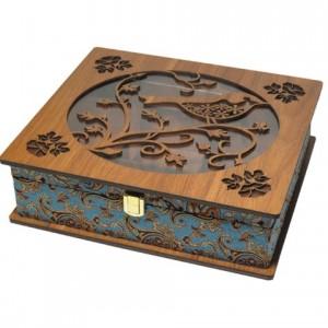 جعبه پذیرایی جعبه دمنوش جعبه آجیل و خشکبار لوکس باکس کد LB59-تصویر 2